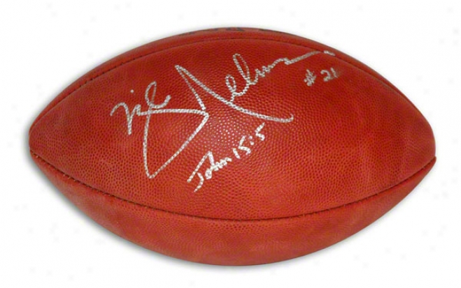 Mike Nelms Autographed Nfl Football