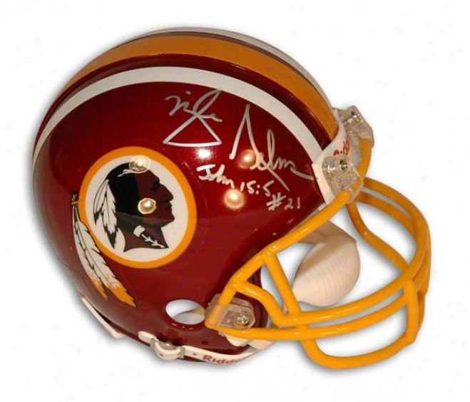 Mike Nelms Autographed Washington Redskins Mini Helmet