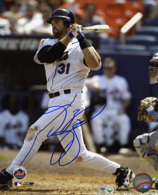 Mike Piazza Autographed Photograph  Details: New York Mets, 8x10