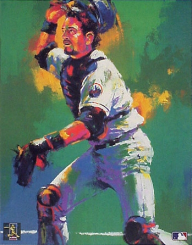 Mike Piazza New York Mets 12x18 Lithograph