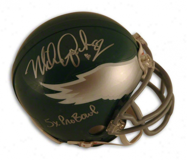 Mike Quick Autographed Philadelphia Eagles Throwback Mini Helmet Inscribed &quot5x Pro Bowl&quot