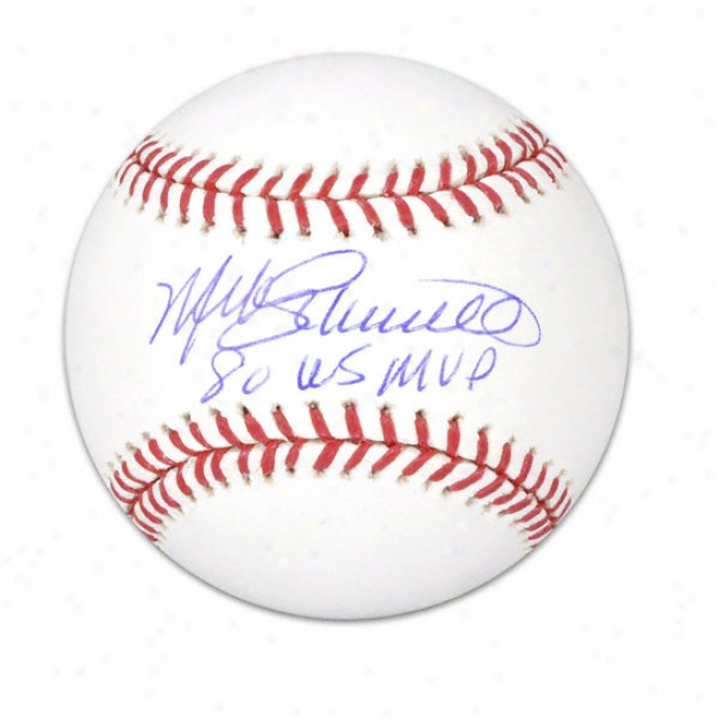 Mike Schmidt Autographed Baseball  Details: 1980 World Series Mvp Inscription