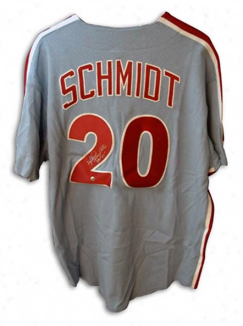Mike Schmidt Philadelphia Phillies Autographed Blue Majestic Jersey