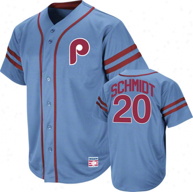 Mike Schmidt Philadelphia Phillies Cooperstown Light Melancholy Heater aFshion Jersey