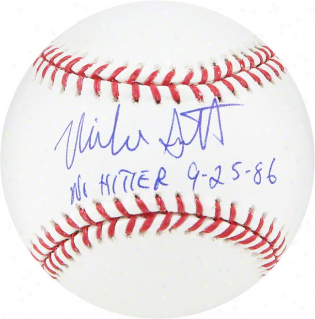 Mike Scott Autographed Baseball  Particulars: No Hitter 9-25-86 Insciption