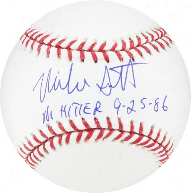 Mike Scott Autographed Baseball  Particulars: No Hitter 9-25-86 Insciption