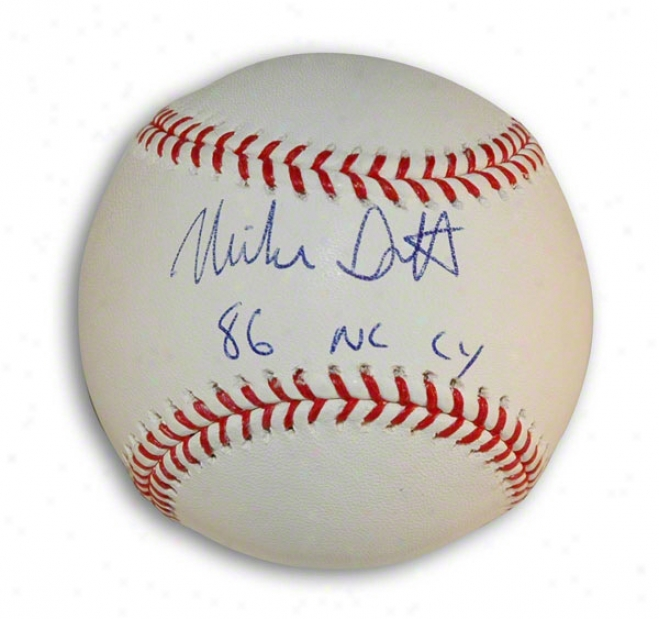 Mike Scott Autographed Mlb Baseball Inscribed &quot86 Nl Cu&quot