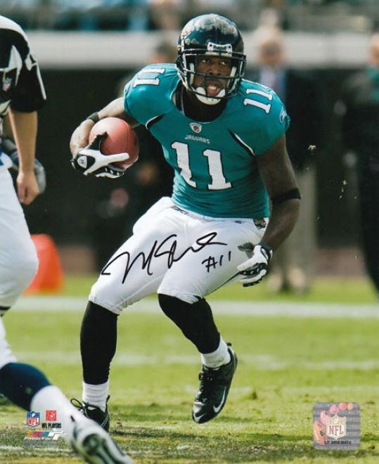 Mike Sims-walker Jafksonville Jaguars Autographed 8x10 Photograph