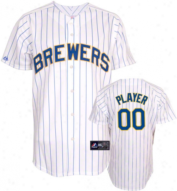 Milwaukee Brewers -Somewhat Player- Alternate Home Mllb Replica Jersey