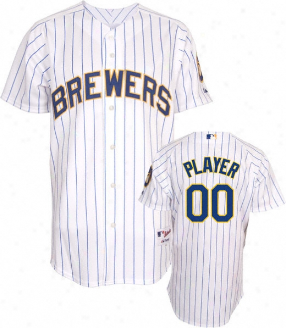 Milwaukee Brewers -any Player- Authentic Alternate Pinstripe On-field Jersey
