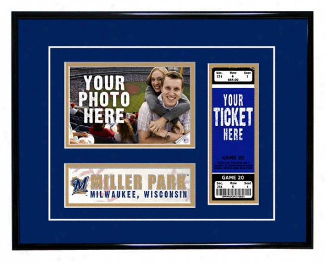 Milwaukee Brewers-  Plan Day - Ticket Frame