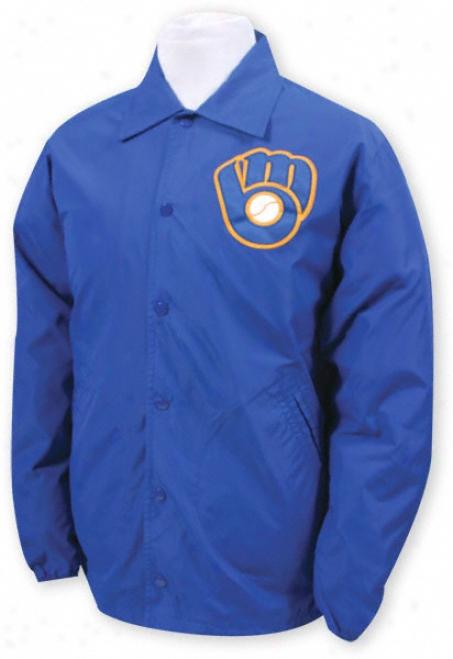 Milwaukee Brewers Mitchell & Ness Battery Nylon Jacket