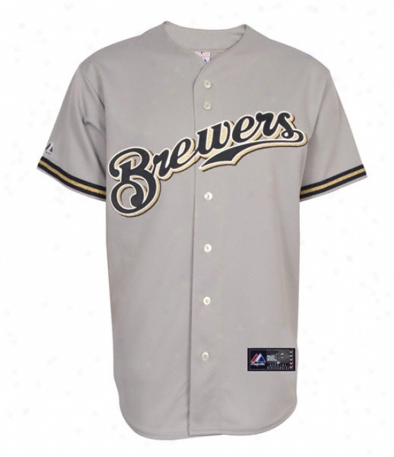 Milwaukee Brewers Road Mlb Replica Jersey