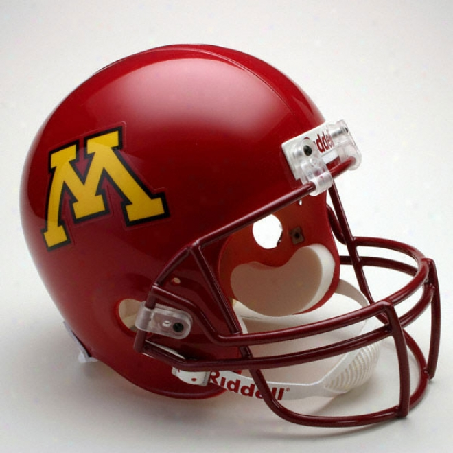 Minnesota Golden Gophers Deluxe Replica Riddell Helmet
