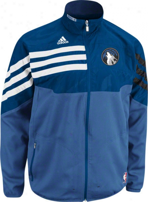 Minnesota Timberwolves Blue 2011-2012 Western Conference On-court Warm-up Jacket
