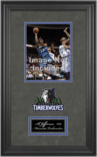 MinnesotaT imberwolves Deluxe 8x10 Team Logo Frame