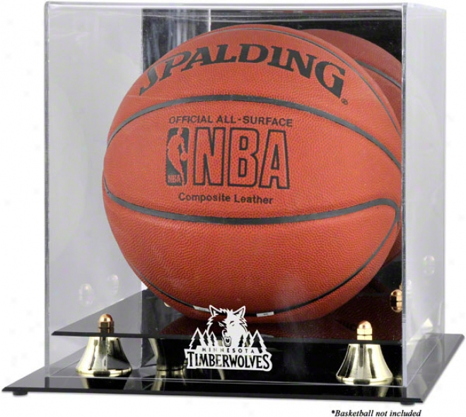 Minnesota Timberwolves Golden Classic Logo Basketball Display Case