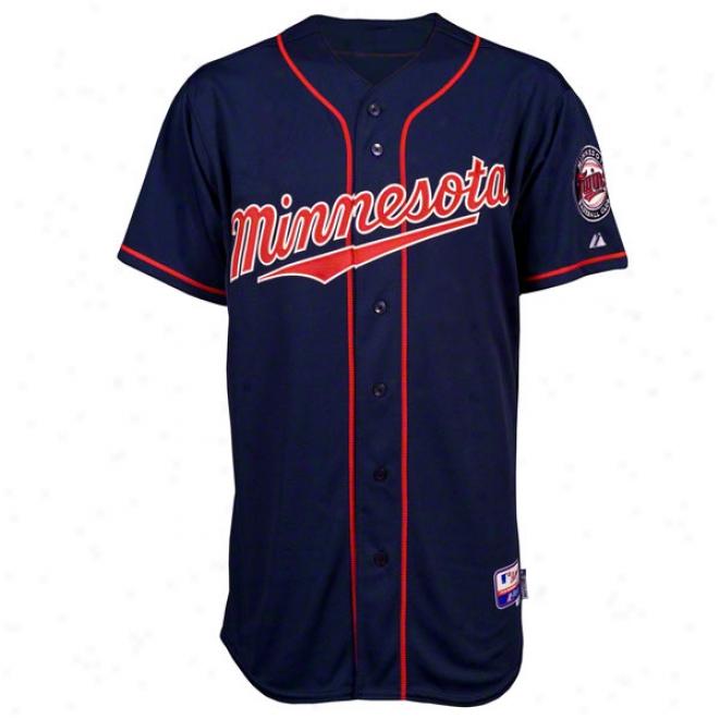 Minnesoya Twins Alternate Navy Authentic Cool Baseã¢â�žâ¢ On-field Mlb Jersey