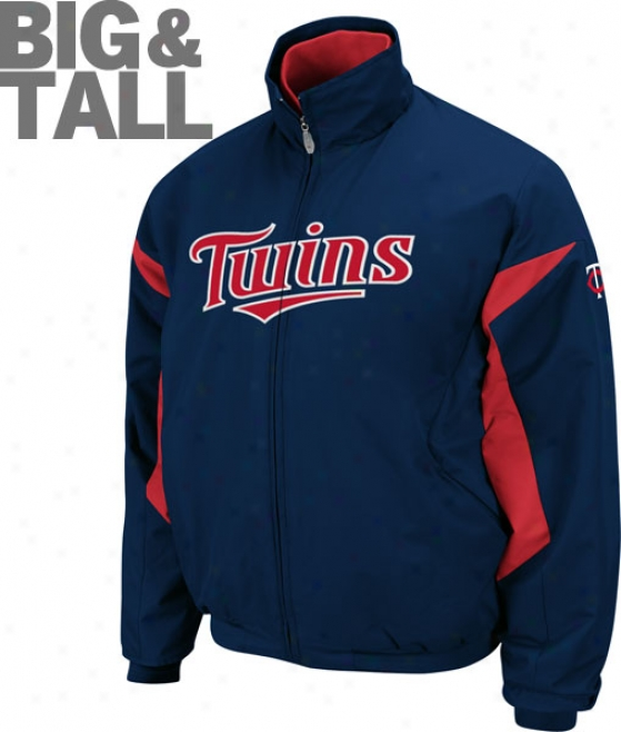 Minnesota Twins Big & Tall Authentic Collection Ships Therma Base Triple Peak Premier Jacket