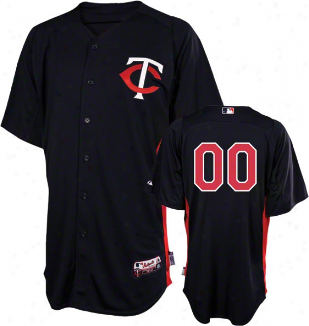 Minnesota Twins Jersey: Any Number Authentic Navy On-field Batting Use Jersey