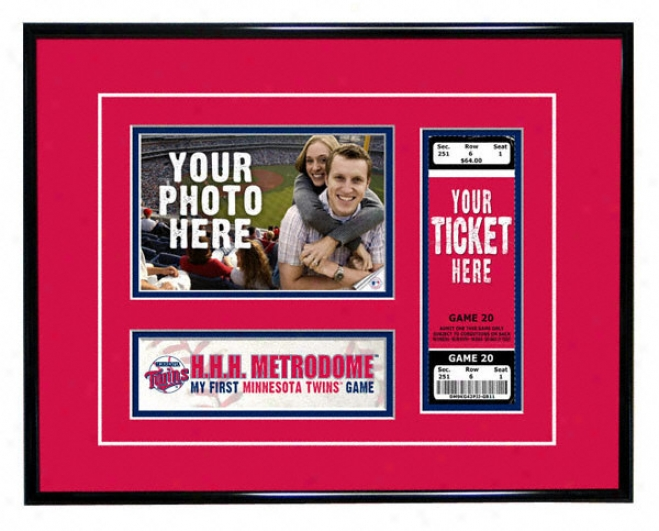 Minnesota Twins - My First Game - Ticket Frame