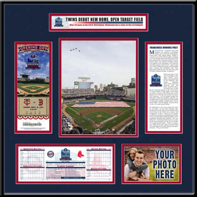 Minnesota Twins Target Field Inaugural Game Ticket Frame