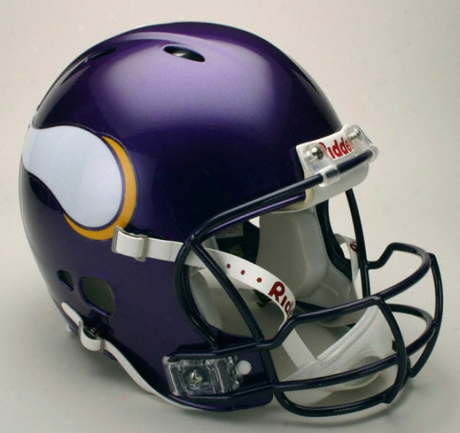 Minnesota Vikings Authentic Pro Line Revolution Riddell Full Size Helmet