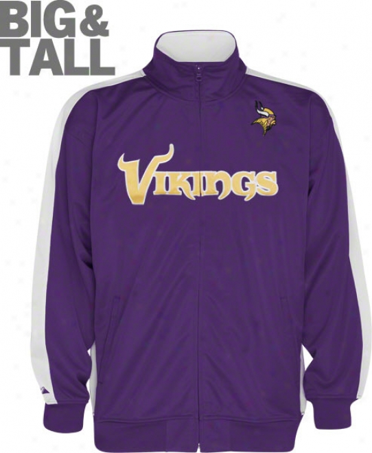 Minnesota Vikings Big & Tall Qb Track Jacket