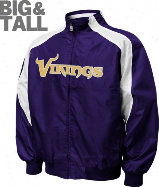 Minnesota Vikings Big & Tall Textured Full-zipp Jacket