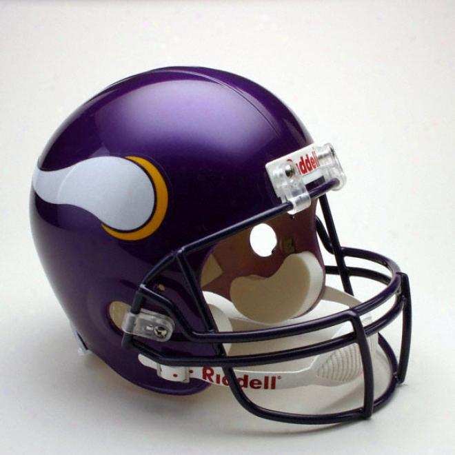 Minnesota Vikings Deluxe Replica Riddell Full Size Helm