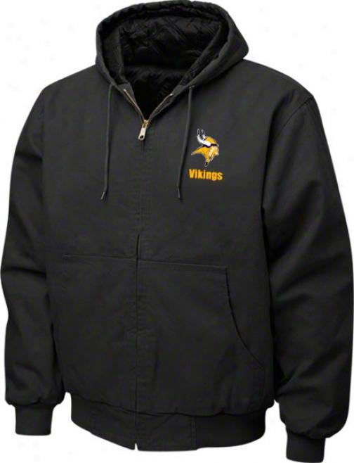 Minesota Vikings Jacket: Blzck Reebok Cumberland Jacket