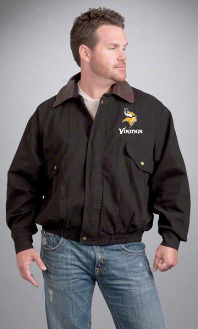 Minnesota Vikings Jacket: Black Reebok Navigaator Jacket