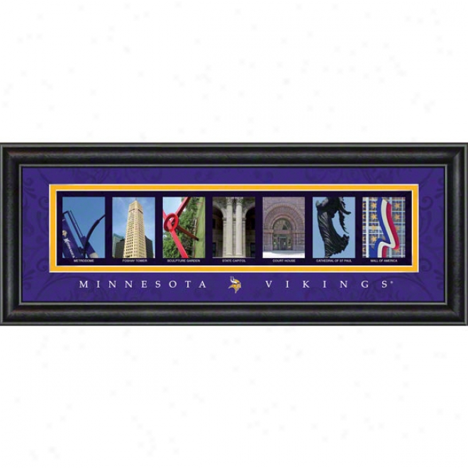 Minnesota Vikings Letter Art