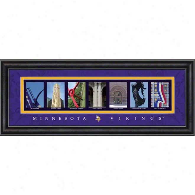 Minnesota Vikings Letter Art