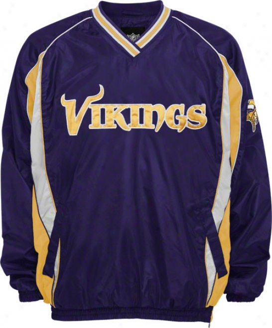 Minnesota Vikings Lightweight V-neck Pullover Jacket