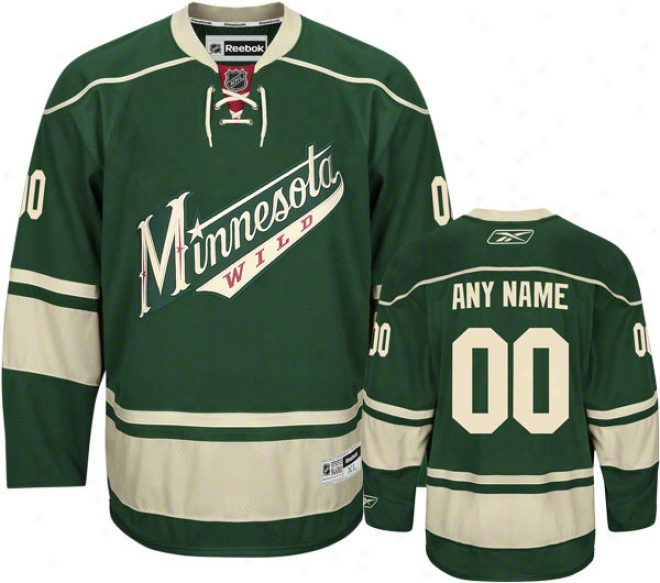 Minnesota Wild Reciprocal Premier Jersey: Customizable Nhl Jersey