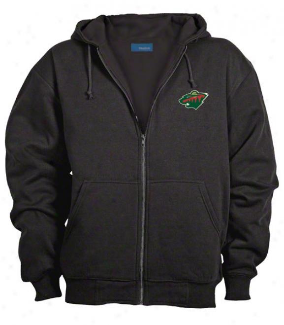 Minnesota Wild Jacket: Black Reebok Hooded Craftsman Jacket