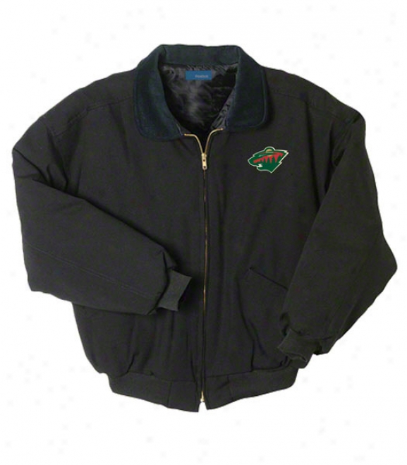 Minnesota Wild Jacket: Black Reebok Saginaw Jacket