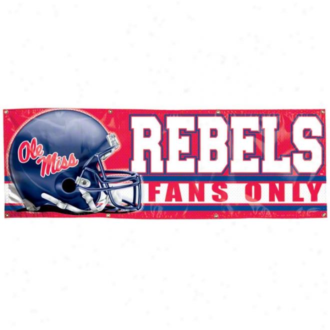 Mississippi Rebels 2x6 Vinyl Baner