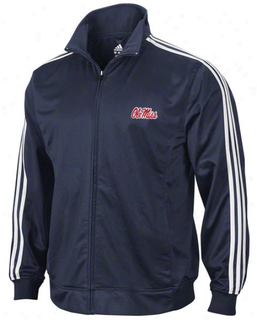 Mississippi Rebels Adidas Ships 3-stripe Track Jacket