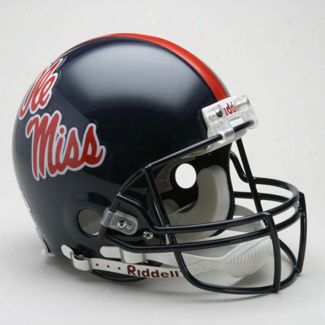 Mississippi Rebels Authentic Pro Line Riddell Full Size Helmet