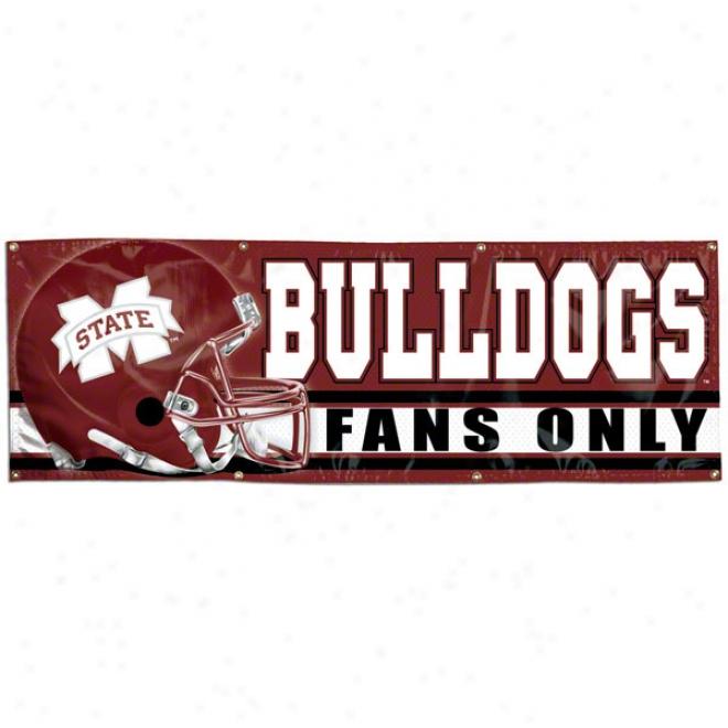 Mississippi State Bulldogs 2x6 VinylB anner