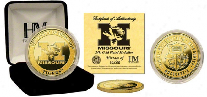 Missouri Tigers 24kt Gold Coln