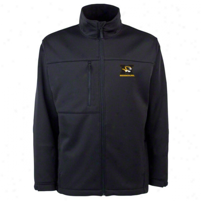 Missouri Tigers Black Traverse Bonded Soft Shell Jacket