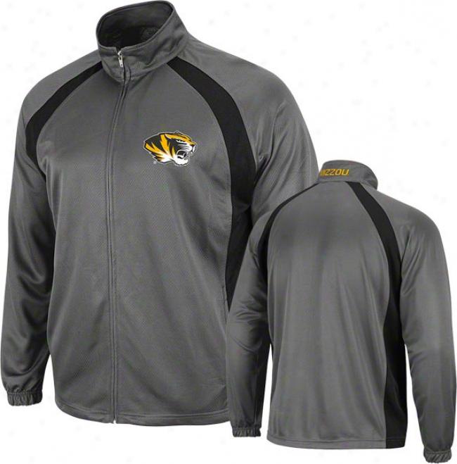 Missouri Tigers Charcoal Rival Full-zip Jacket