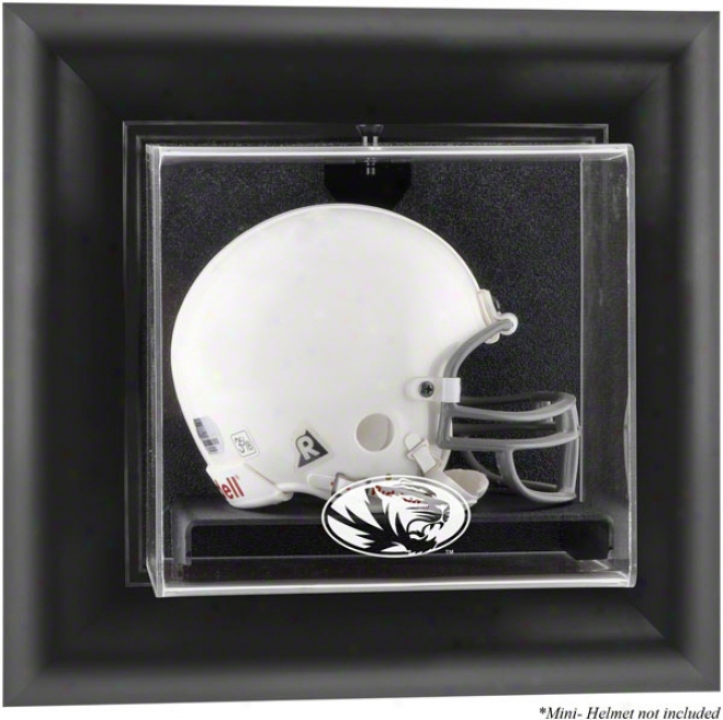 Missouri Tigers Framed Wall Mounted Logo Mini Helmet Display Case
