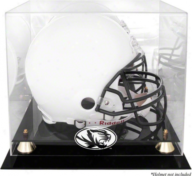 Missouri Tigers Logo Helmet Display Instance  Details: Golden Classic, Mirrored Back