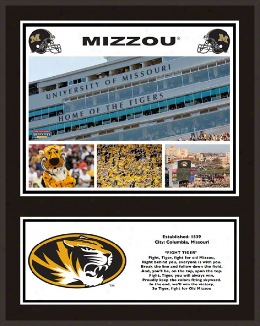 Missouri Tigers Sublimated 12x15 Plaque