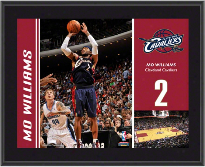 Mo Williams Plaque  Details: Cleveland Cavaliers, Sublimqted, 10x13, Nba Plaque