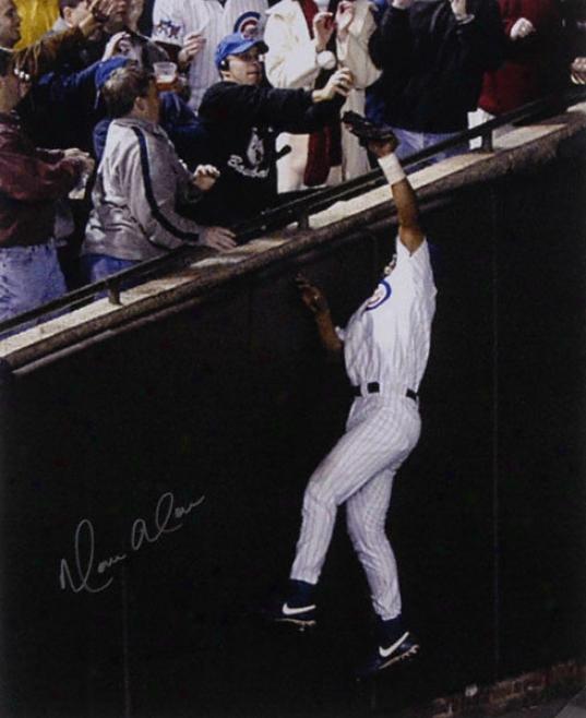 Moises Aloh Chicago Cubs Autographed 16x20 Photograph